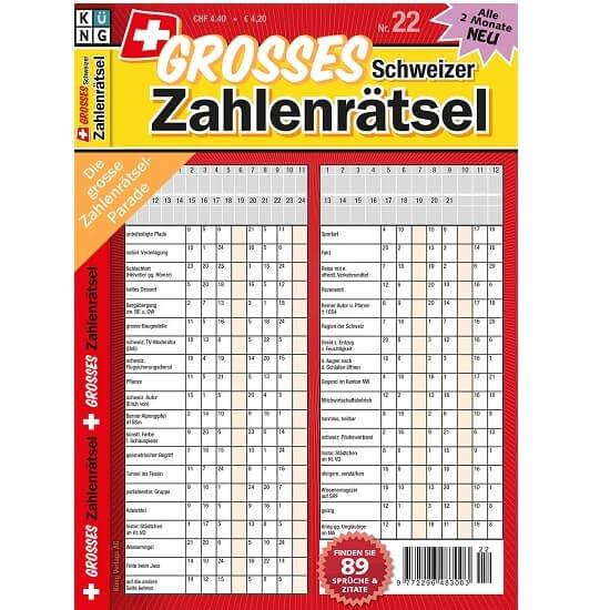 Grosses Schweizer Zahlenrätsel im Abo