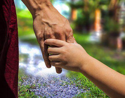 Kinder führen und helfen
