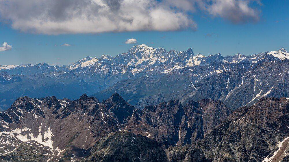 Mont Blan von Südosten