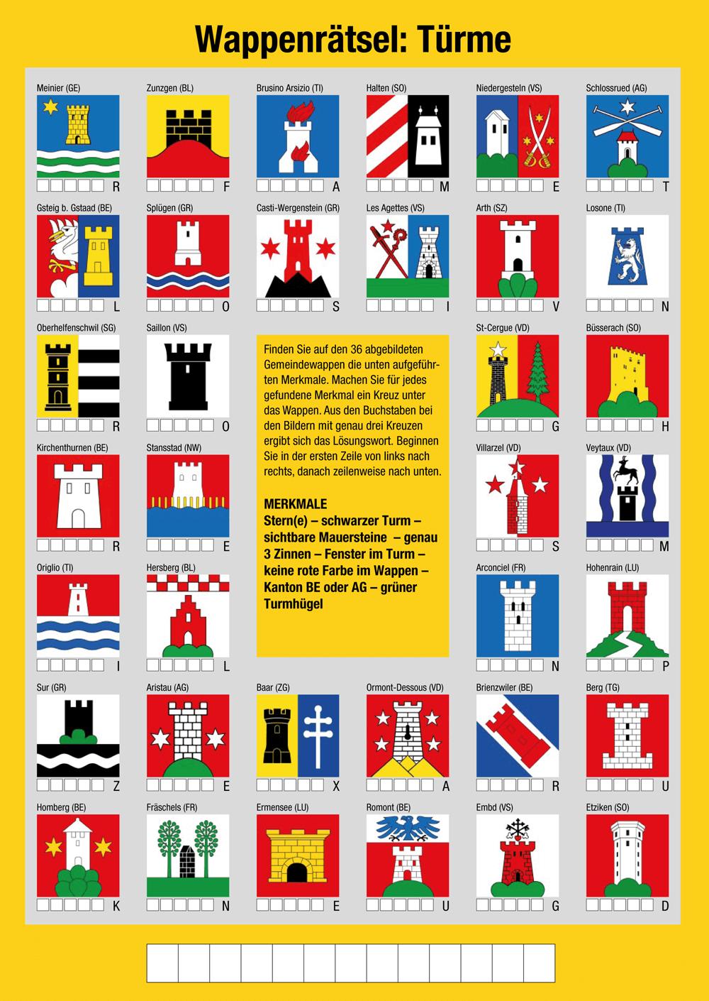 Wappen Rätsel