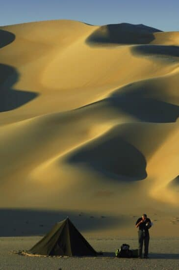 Camping im Grossen Sandmeer Libysche Wüste, Ägypten