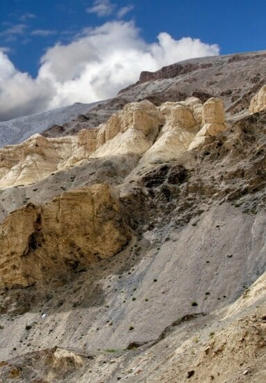 Stein- und Felswüste in Lamayuru Ladakh, Kaschmir
