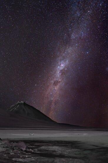 Laguna Blanca mit Vulkan